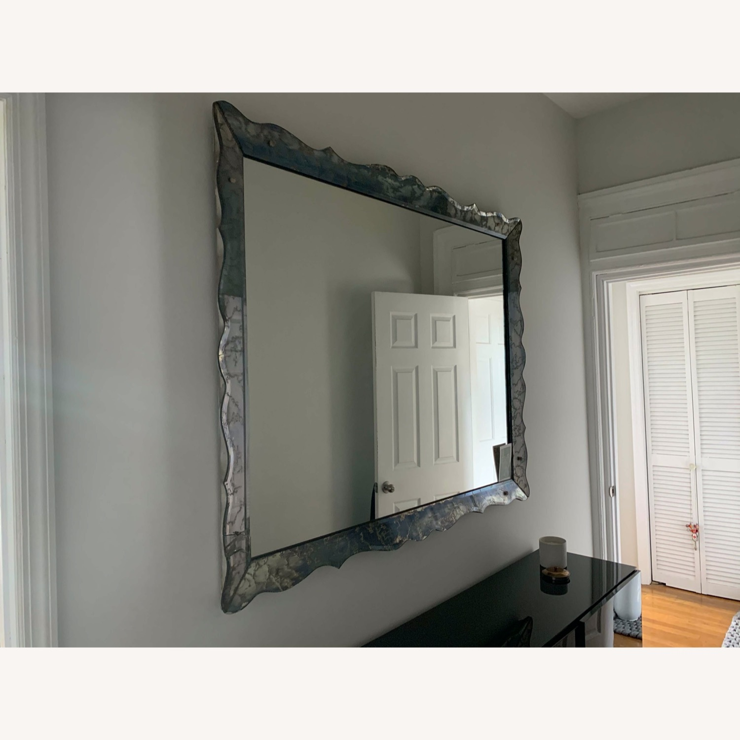 Wall Mirror Vintage with Marble Glass Frame - image-2