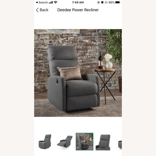 Used Wayfair Modern Grey Electric Recliner for sale on AptDeco