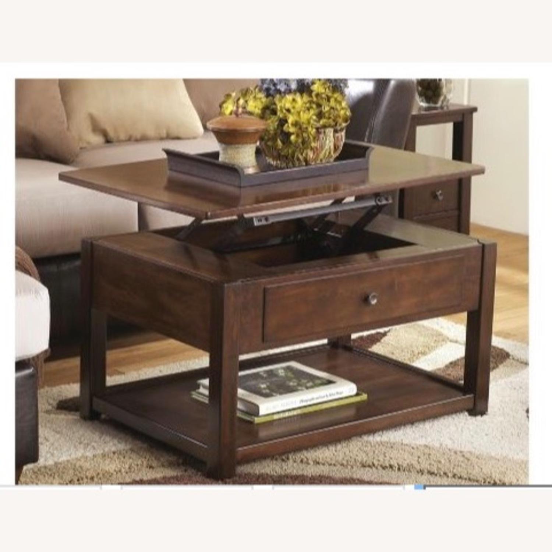 Raymour & Flanigan Lift Top Coffee Table - image-2