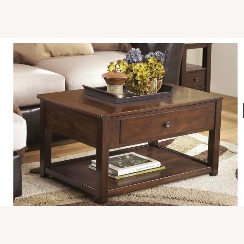 Raymour & Flanigan Lift Top Coffee Table - image-1