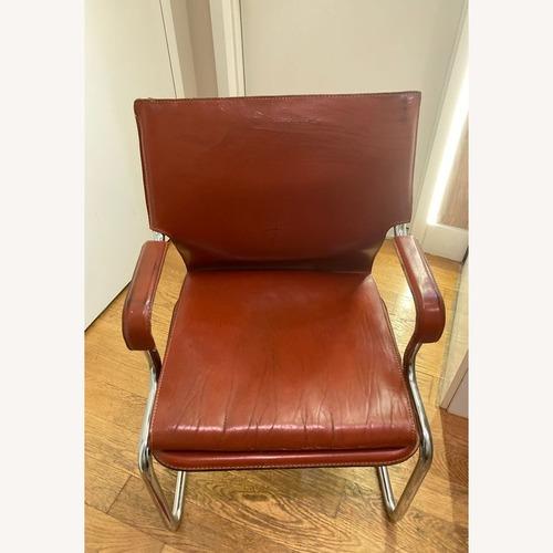 Used Designer Leather Chair Modern for sale on AptDeco