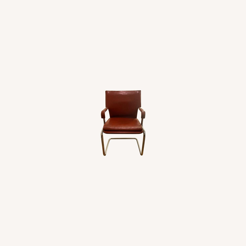 Designer Leather Chair Modern - image-0