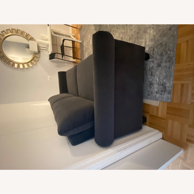 Wayfair Tenny Microsuede Dark Grey Sofa - image-3