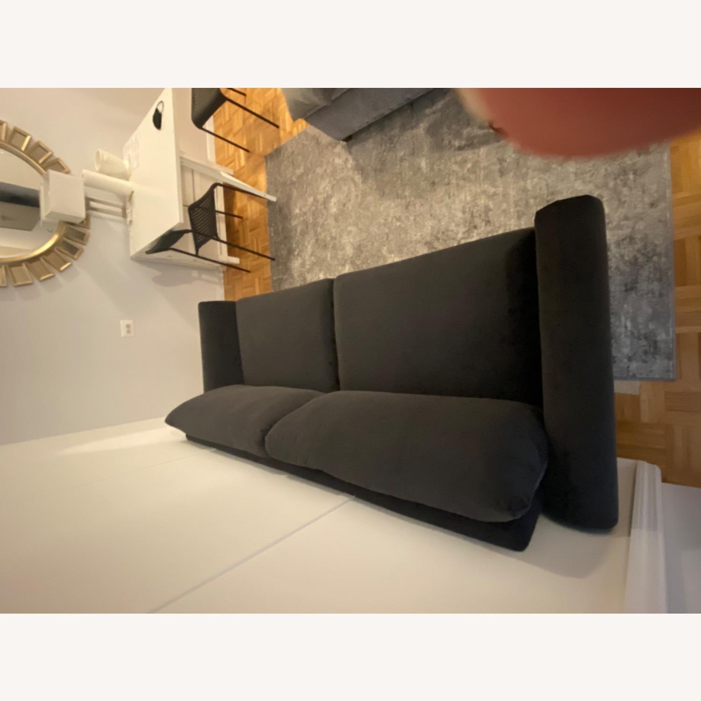 Wayfair Tenny Microsuede Dark Grey Sofa - image-2
