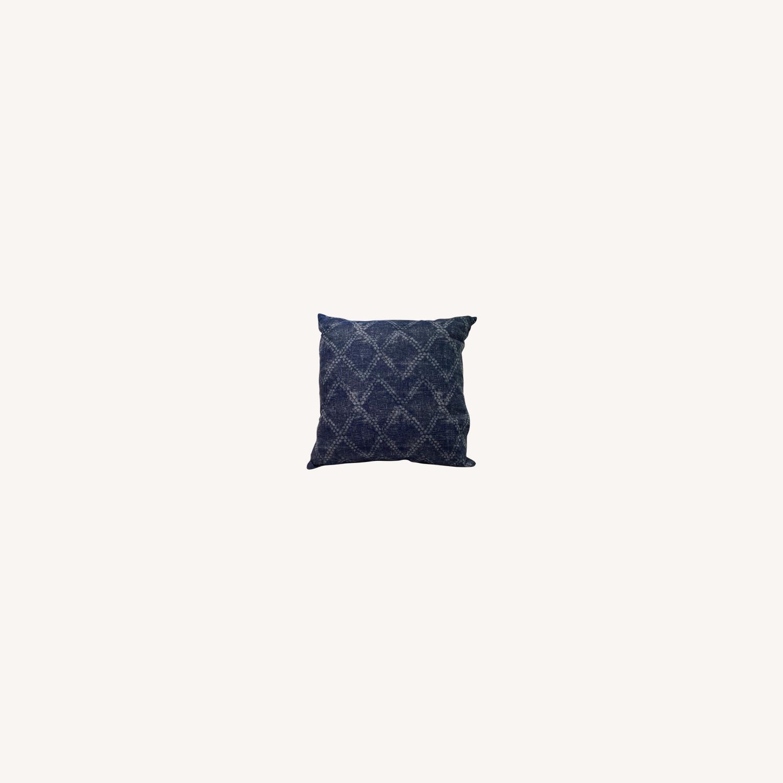 Handmade Indigo Blue Shibori Pillow - image-0