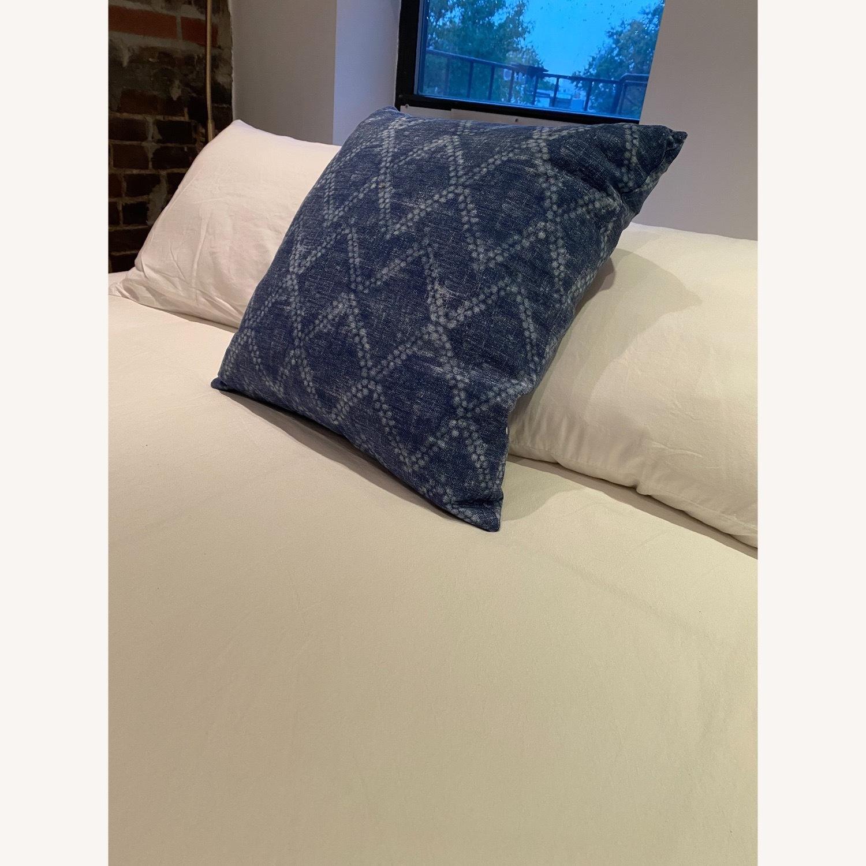 Handmade Indigo Blue Shibori Pillow - image-3