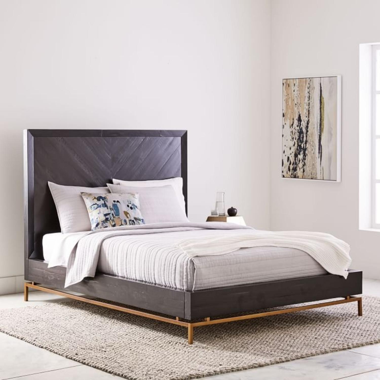 West Elm Alexa Bed, Queen, Black - image-4
