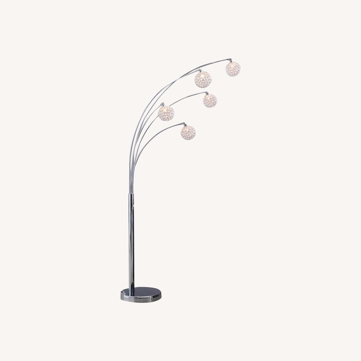 Crystal Ball Floorlamp with Dimmer - image-0