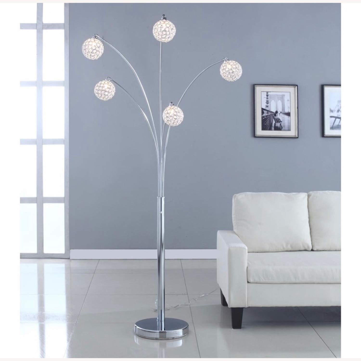 Crystal Ball Floorlamp with Dimmer - image-2
