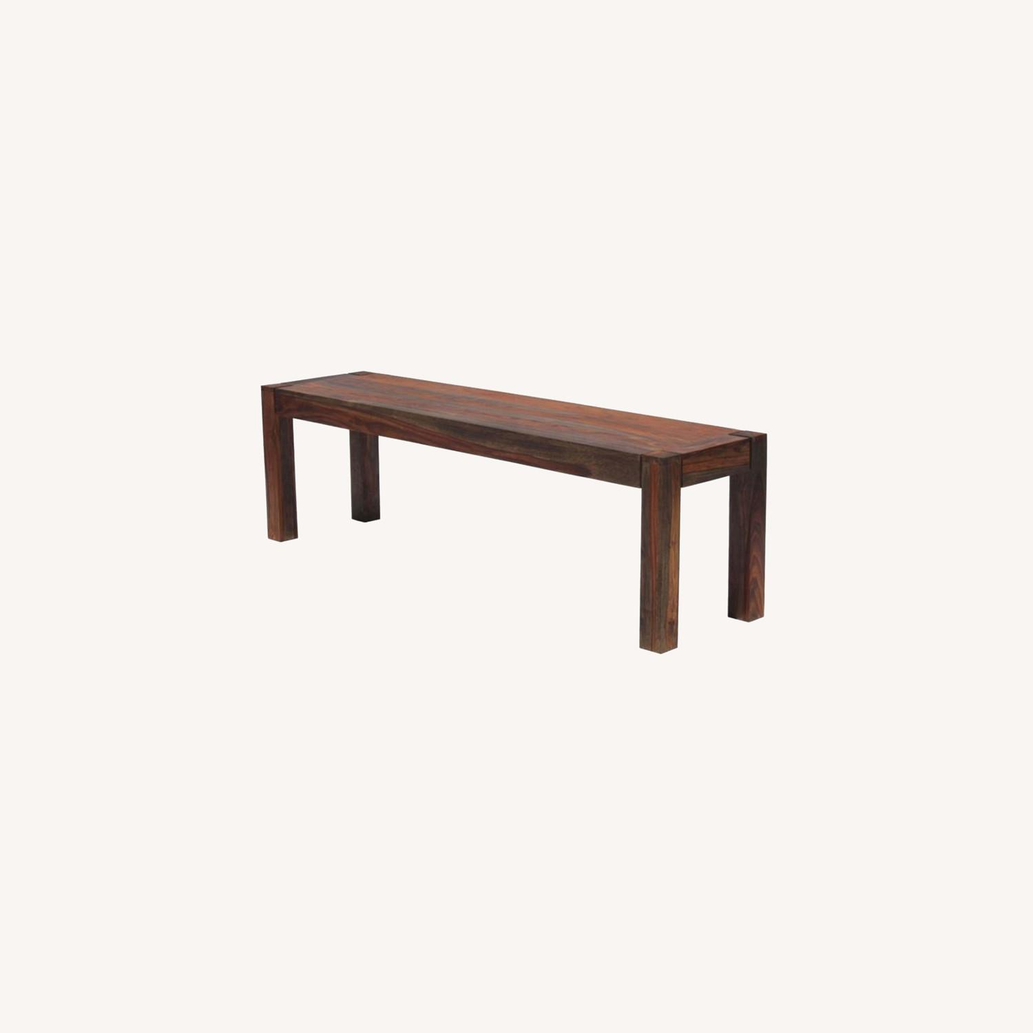 Bench Crafted In Solid Sheesham Wood - image-4