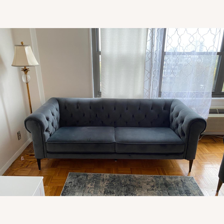 Macys Chesterfield Luxury Sofa Velvet - image-3