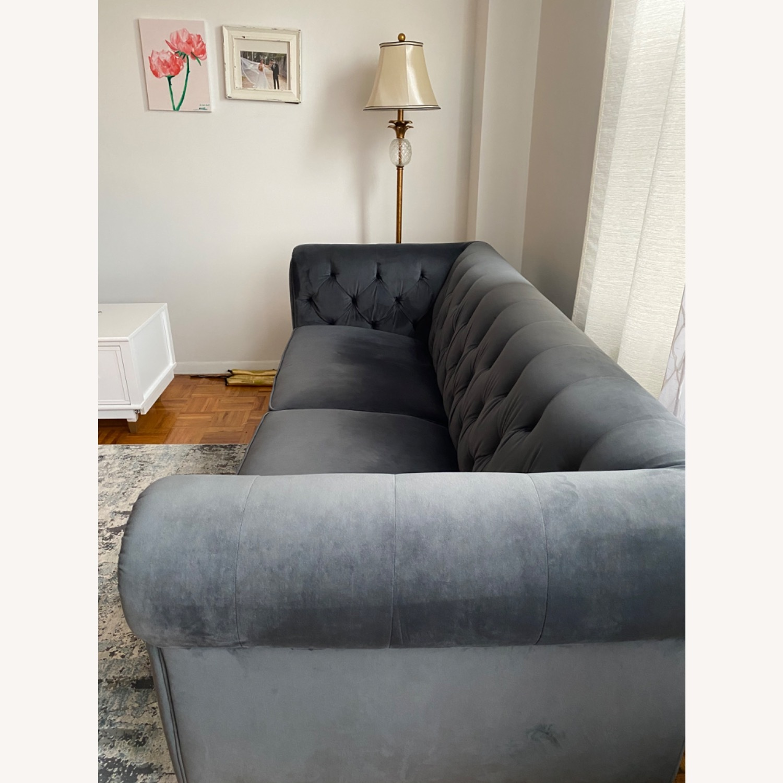 Macys Chesterfield Luxury Sofa Velvet - image-1