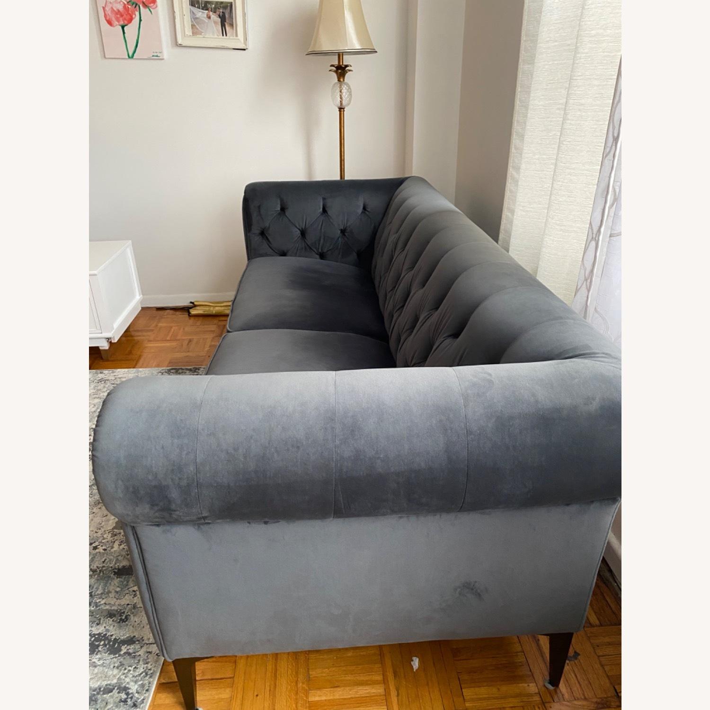 Macys Chesterfield Luxury Sofa Velvet - image-6