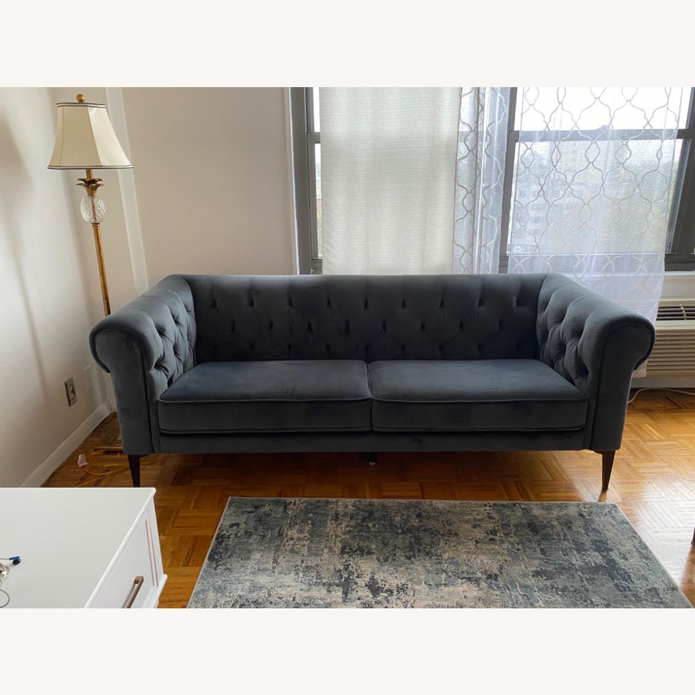 Macys Chesterfield Luxury Sofa Velvet - image-5