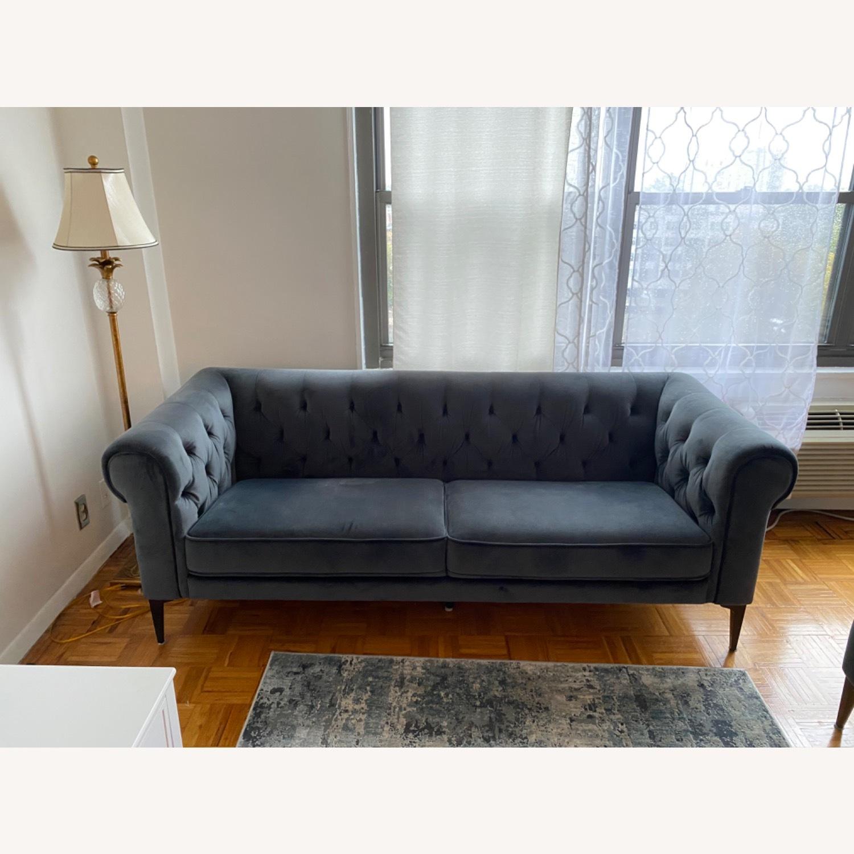 Macys Chesterfield Luxury Sofa Velvet - image-4