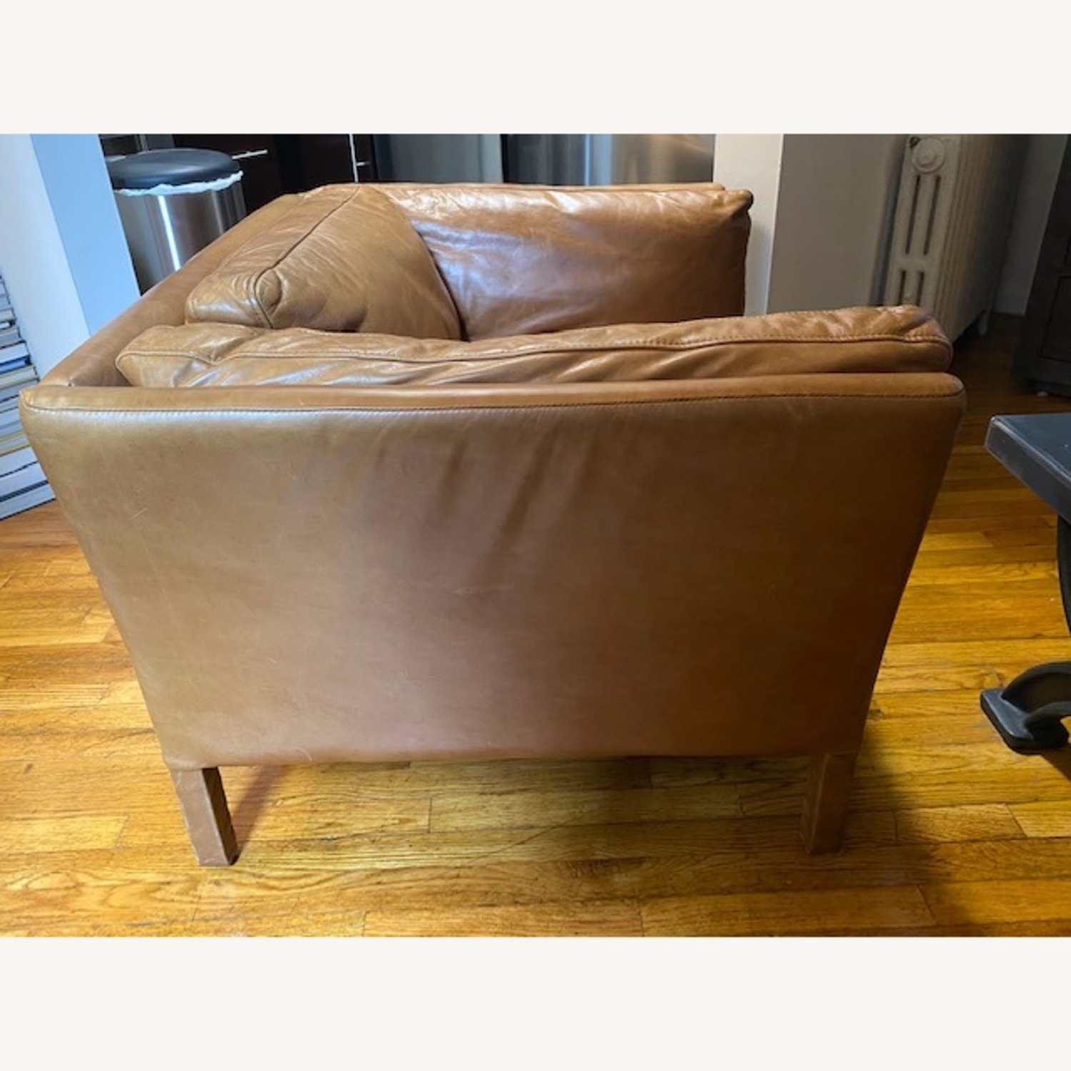Restoration Hardware Leather Sorensen Chair - image-2
