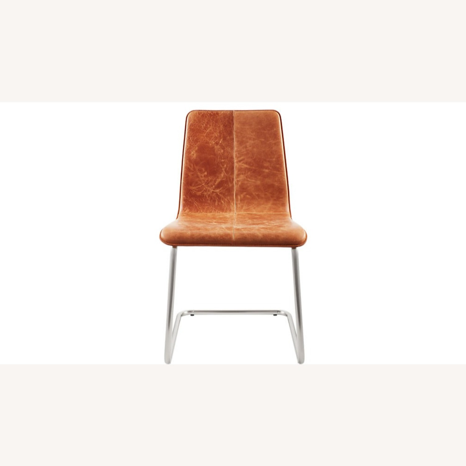 CB2 Pony Brown Leather Chair - image-9