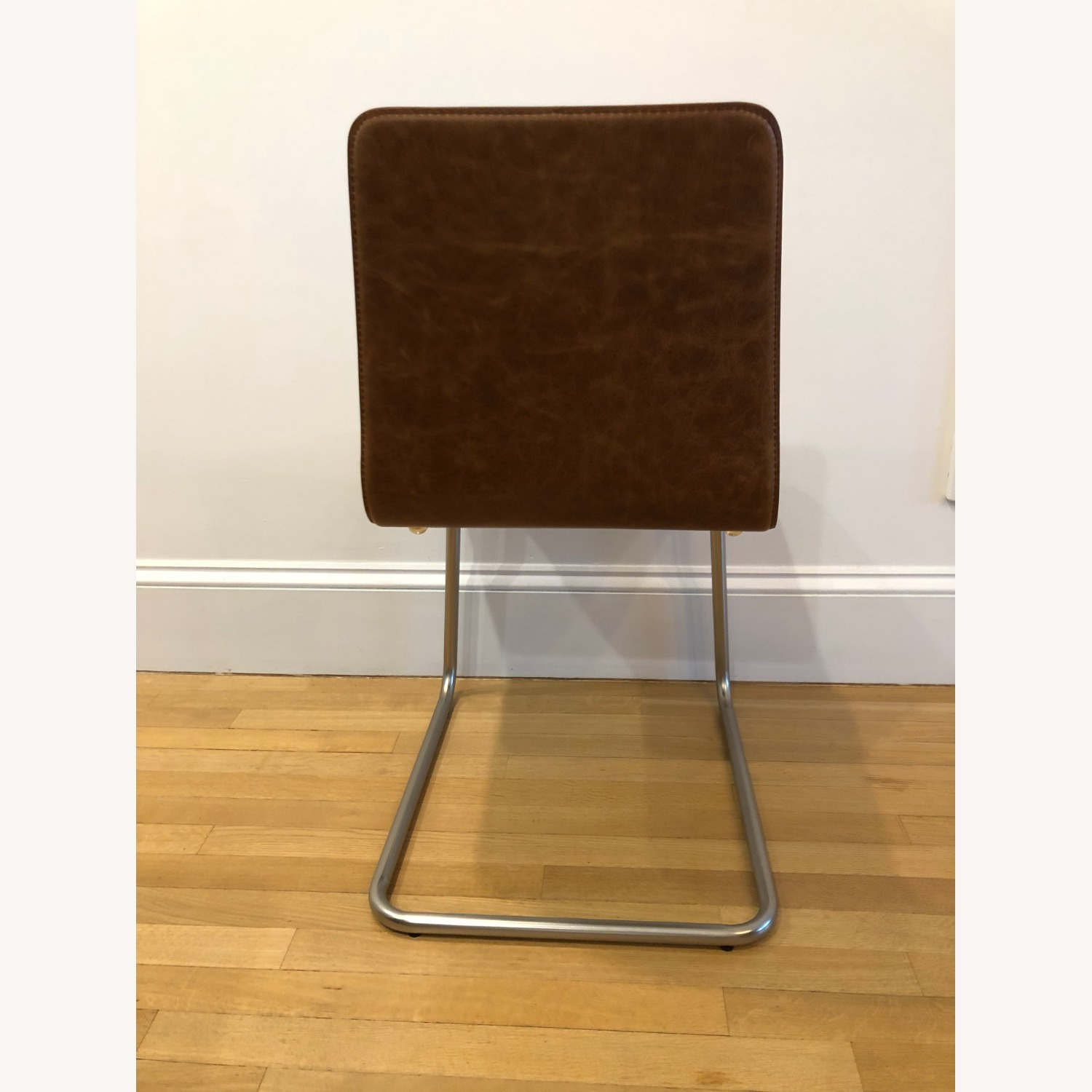 CB2 Pony Brown Leather Chair - image-5