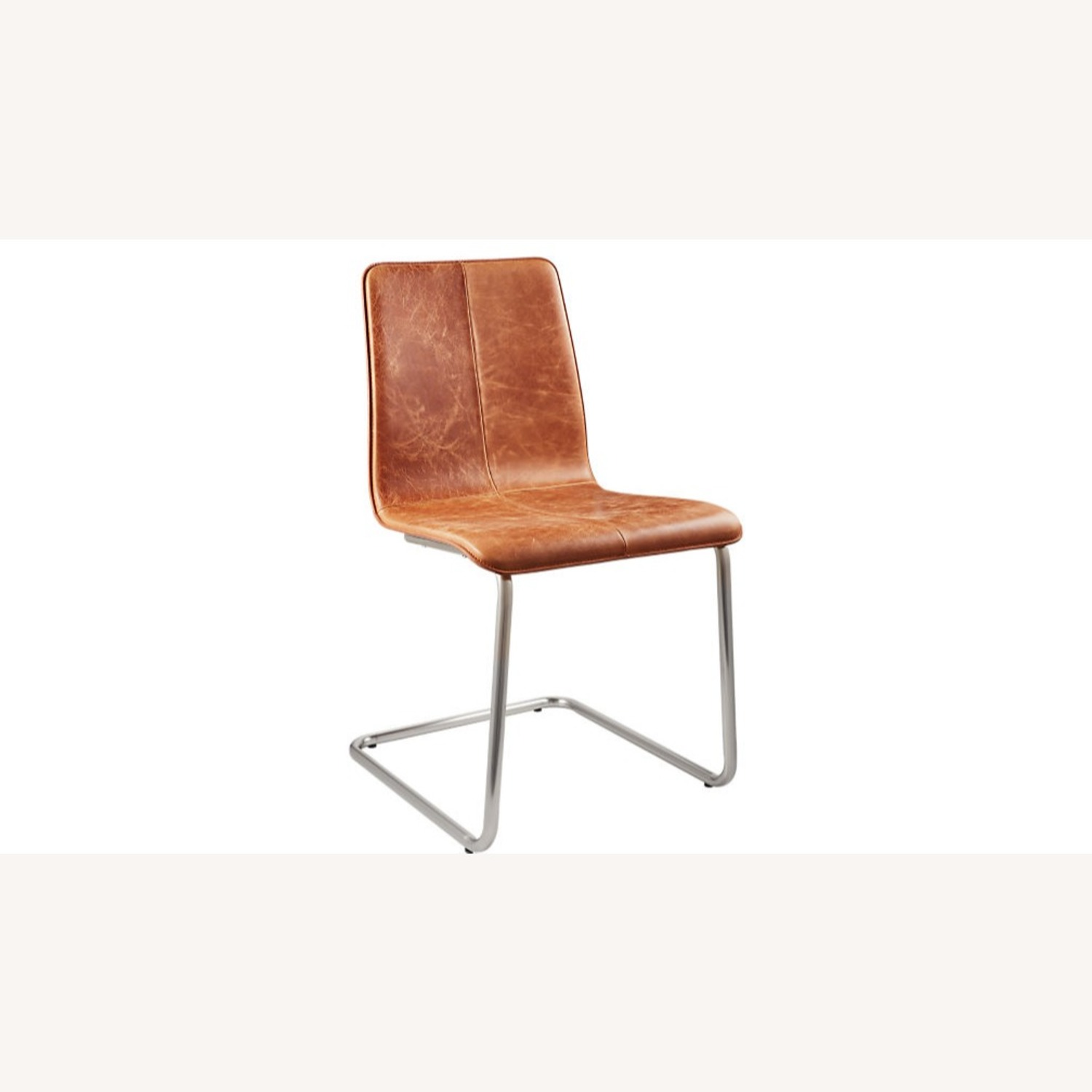 CB2 Pony Brown Leather Chair - image-1