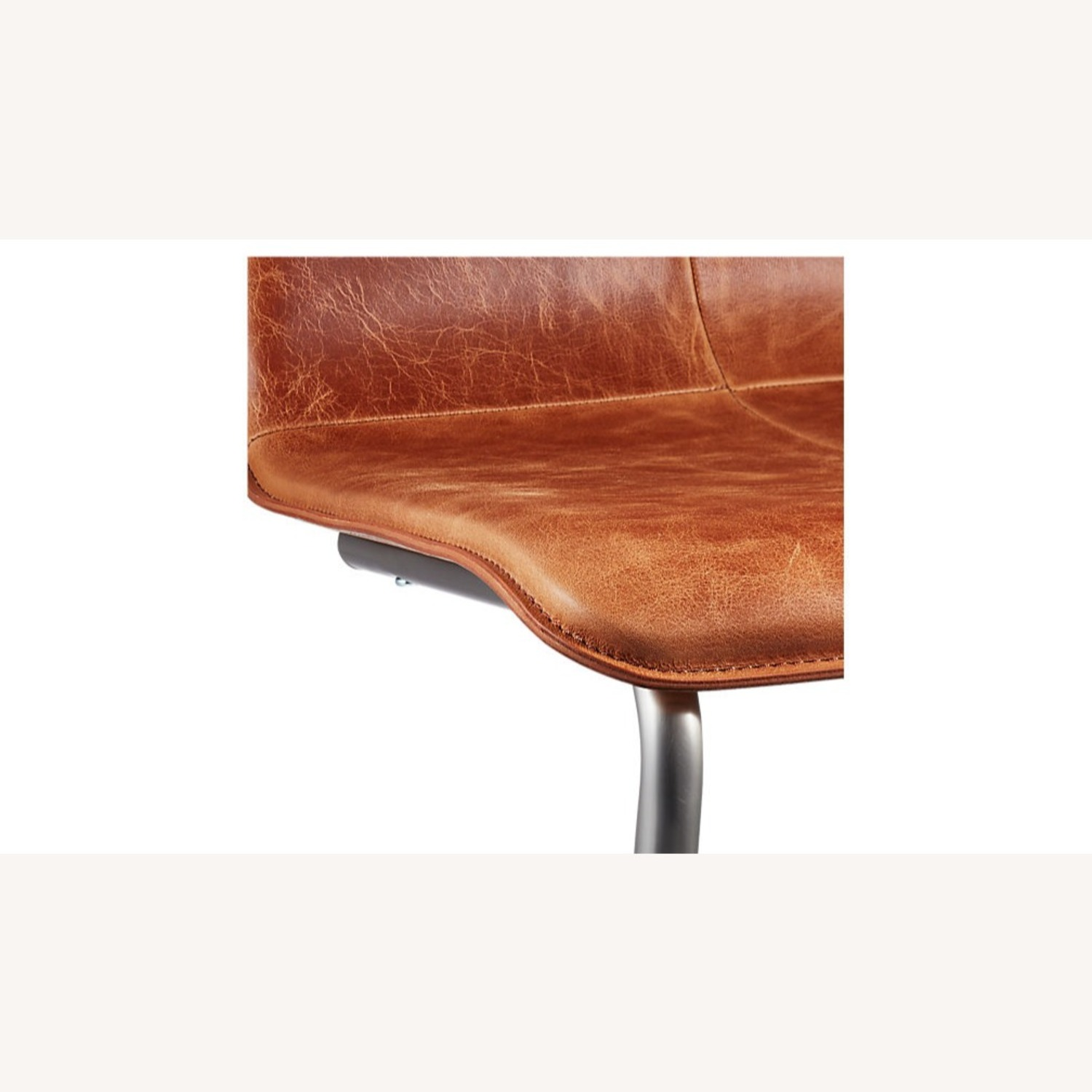 CB2 Pony Brown Leather Chair - image-8