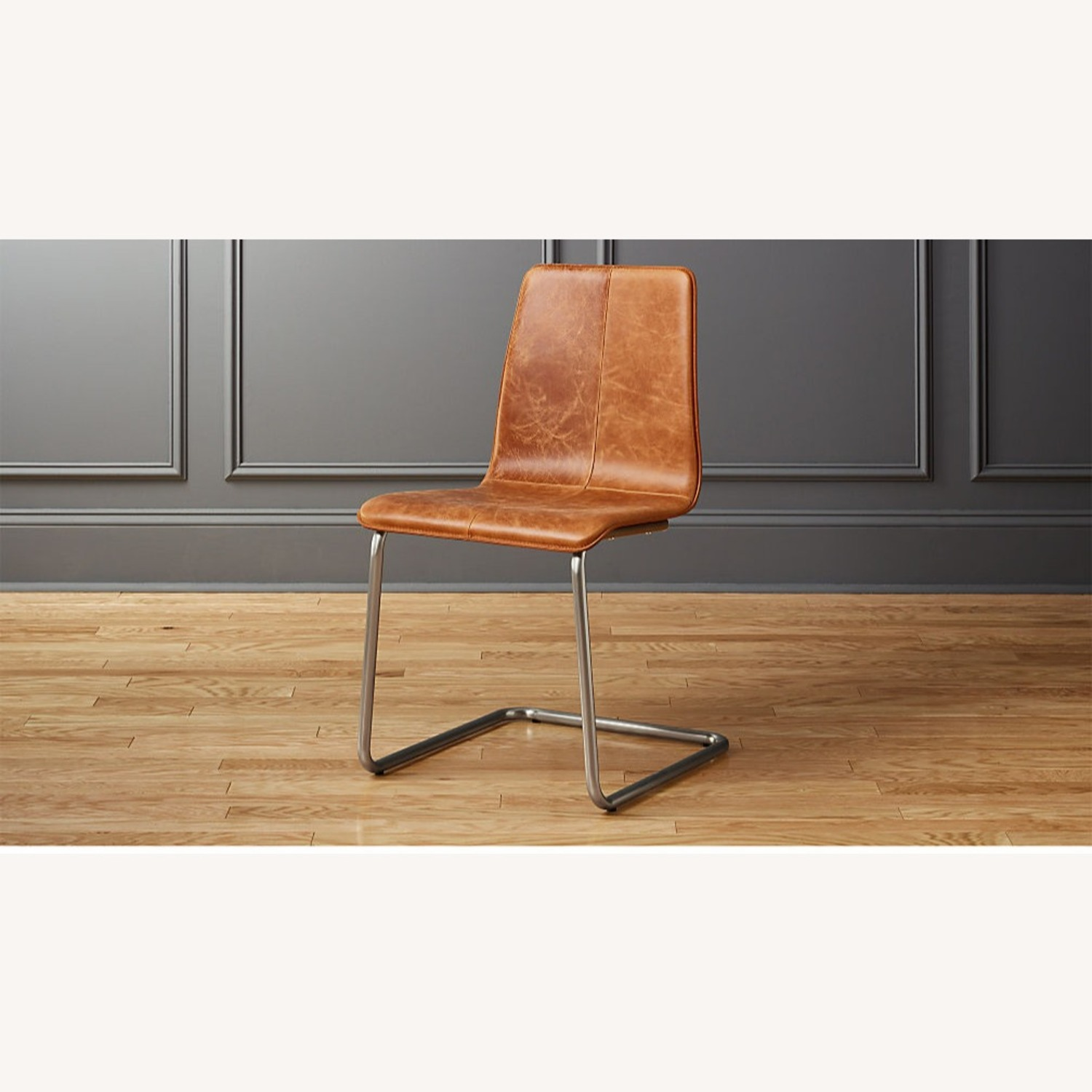 CB2 Pony Brown Leather Chair - image-0