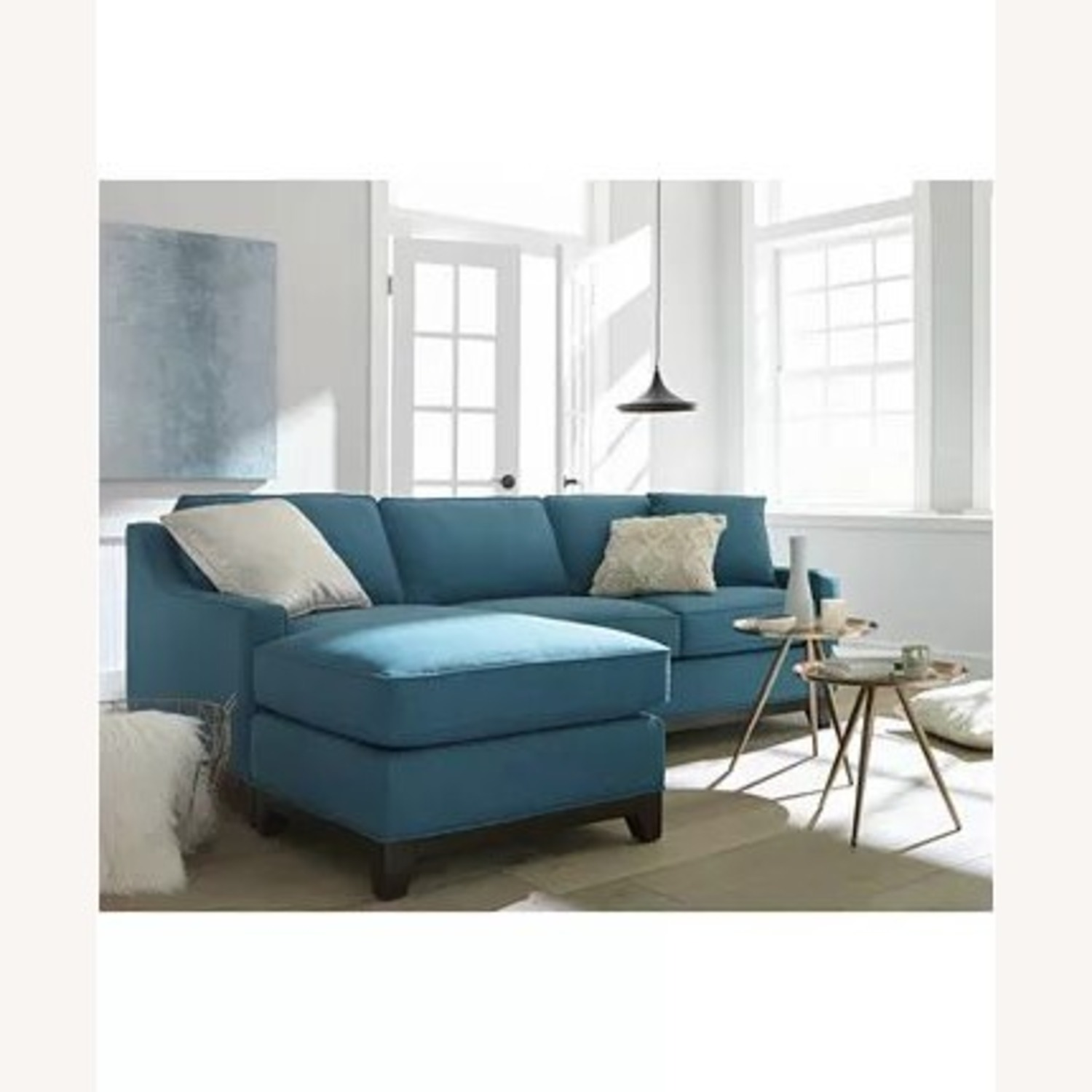 "Macy's Keegan 90"" 2-Piece Reversible Chaise Sectional - image-1"