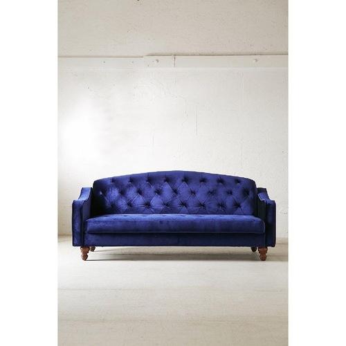 Used Urban Outfitters Royal Blue Velvet Sleeper Sofa for sale on AptDeco