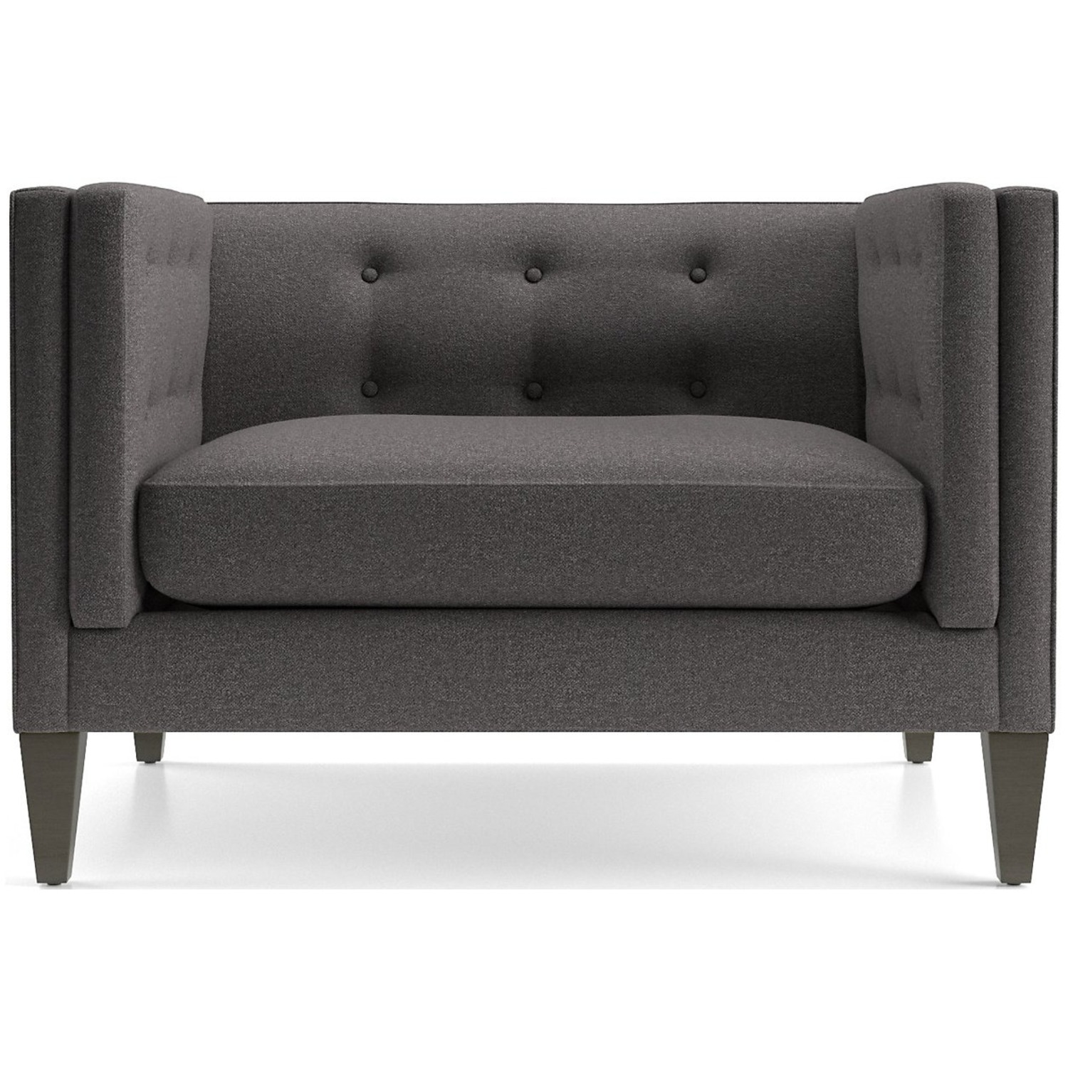 Crate & Barrel Tufted Chair - image-5
