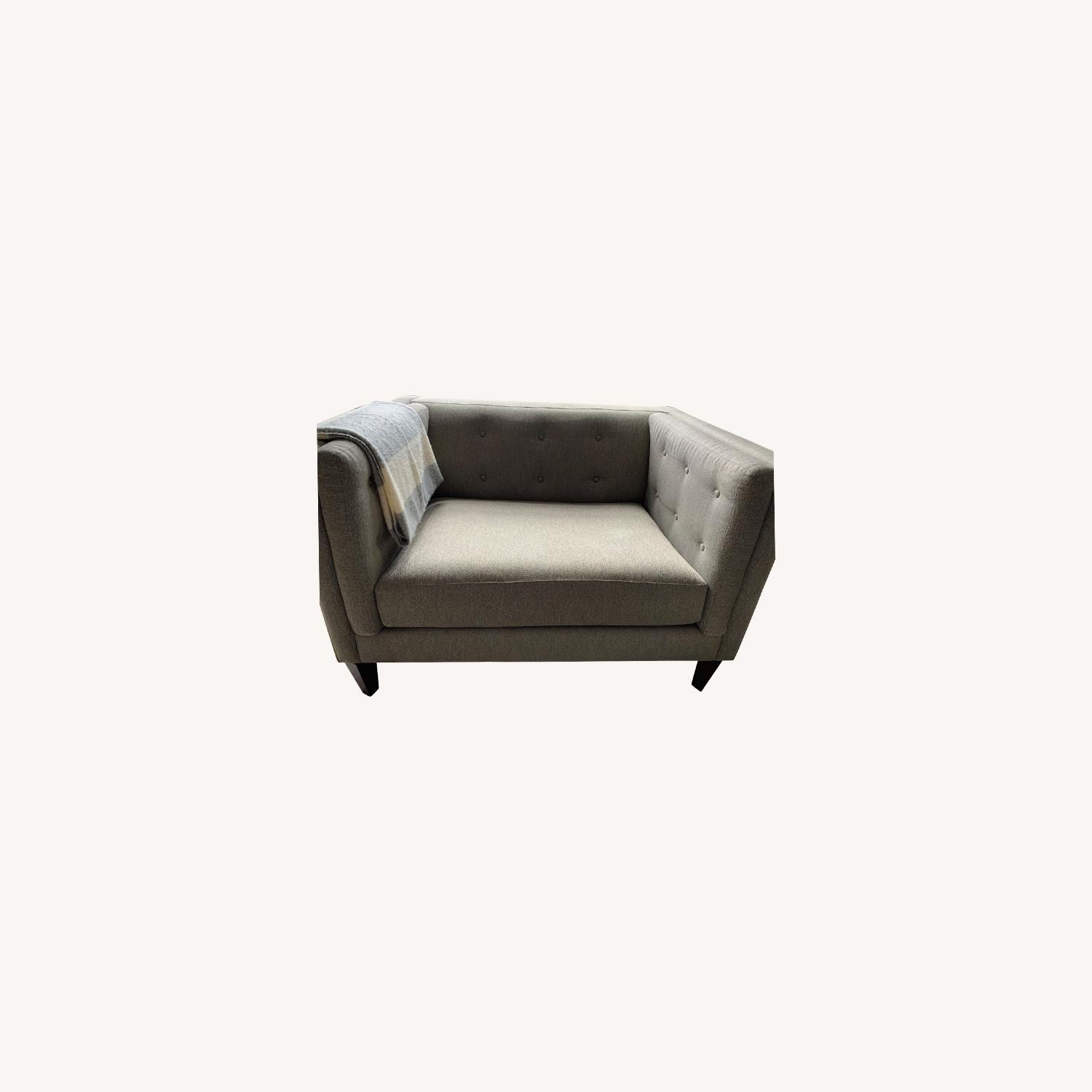 Crate & Barrel Tufted Chair - image-0
