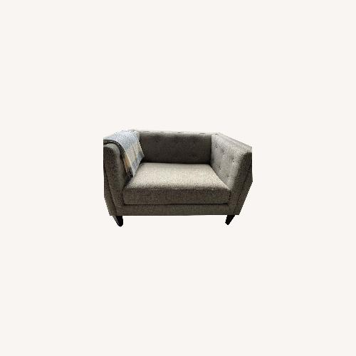Used Crate & Barrel Tufted Chair for sale on AptDeco