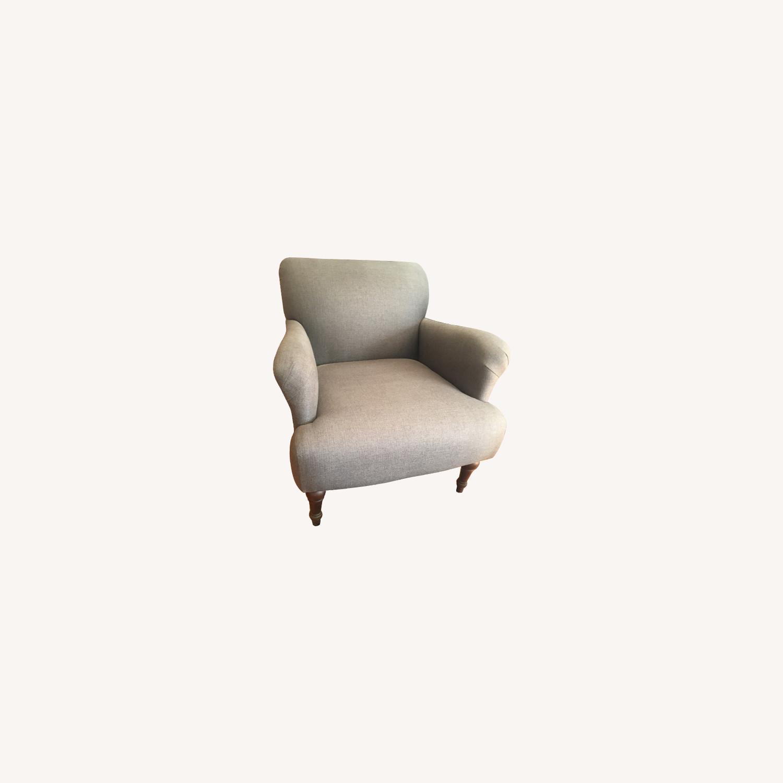 "Pottery Barn gray ""Morgan"" Armchair - image-0"