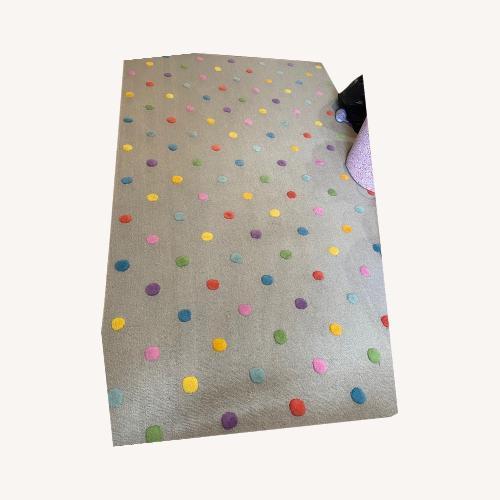 Used Crate & Kids Polka Dot Rug for sale on AptDeco