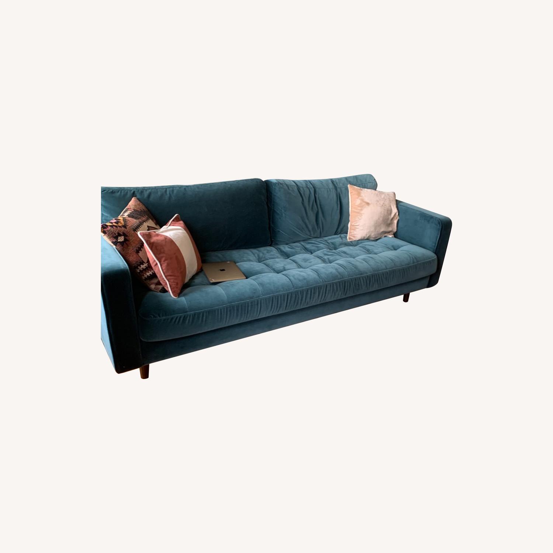 Article Sven Sofa in Pacific Blue Velvet - image-0