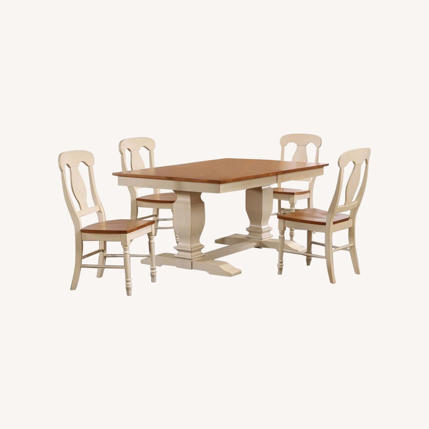 Dinettestyles Solid Wood Extension Dinnig Set - image-0
