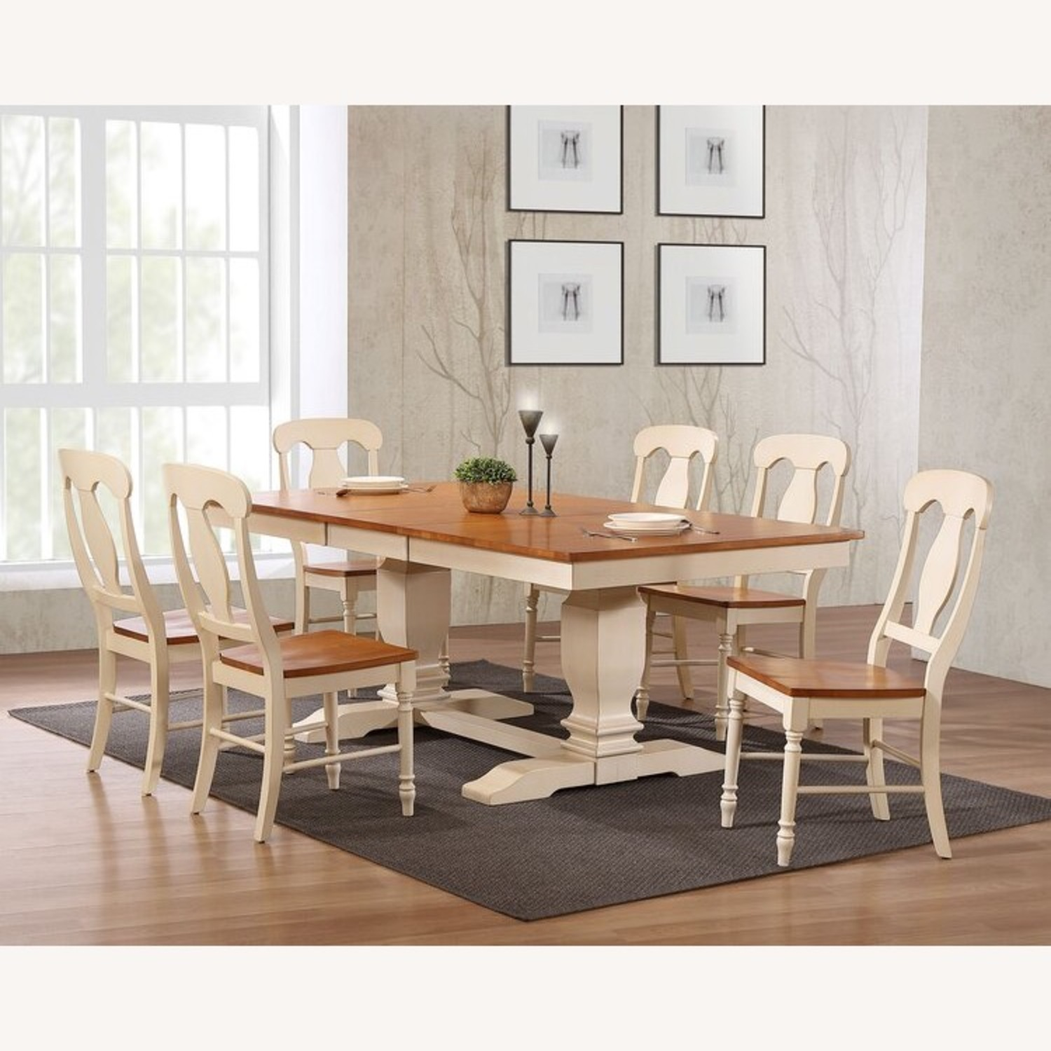 Dinettestyles Solid Wood Extension Dinnig Set - image-2