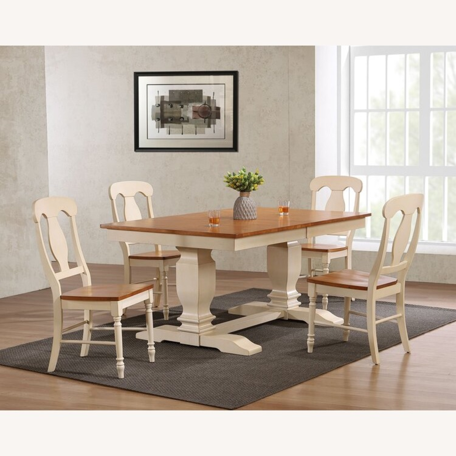 Dinettestyles Solid Wood Extension Dinnig Set - image-1