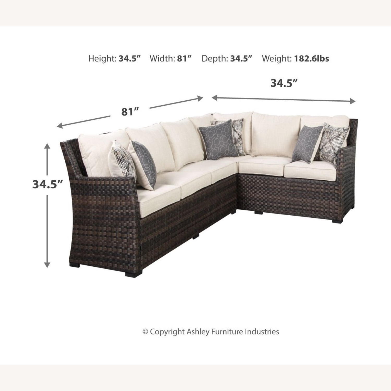 Ashley Furniture Resin Wicker Sectional - image-3