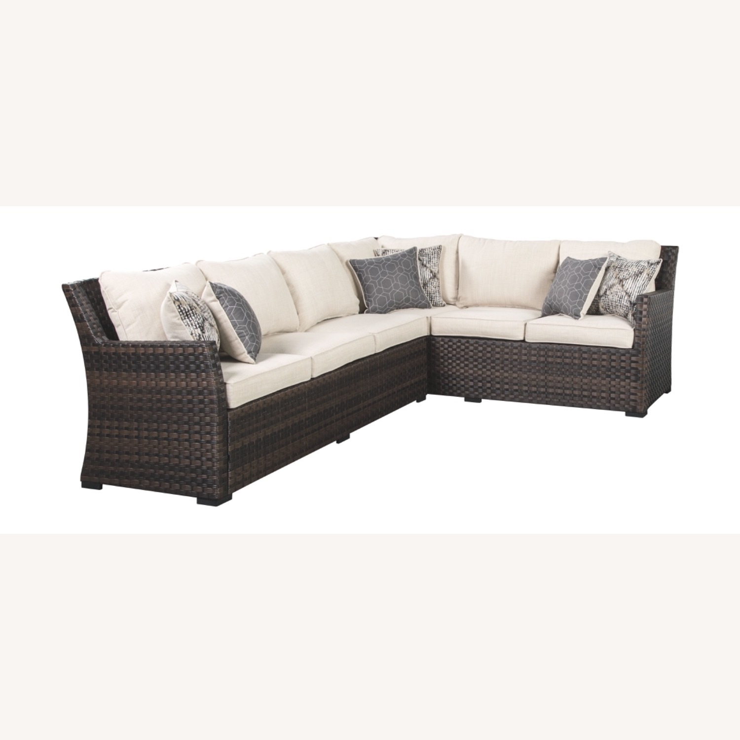 Ashley Furniture Resin Wicker Sectional - image-1