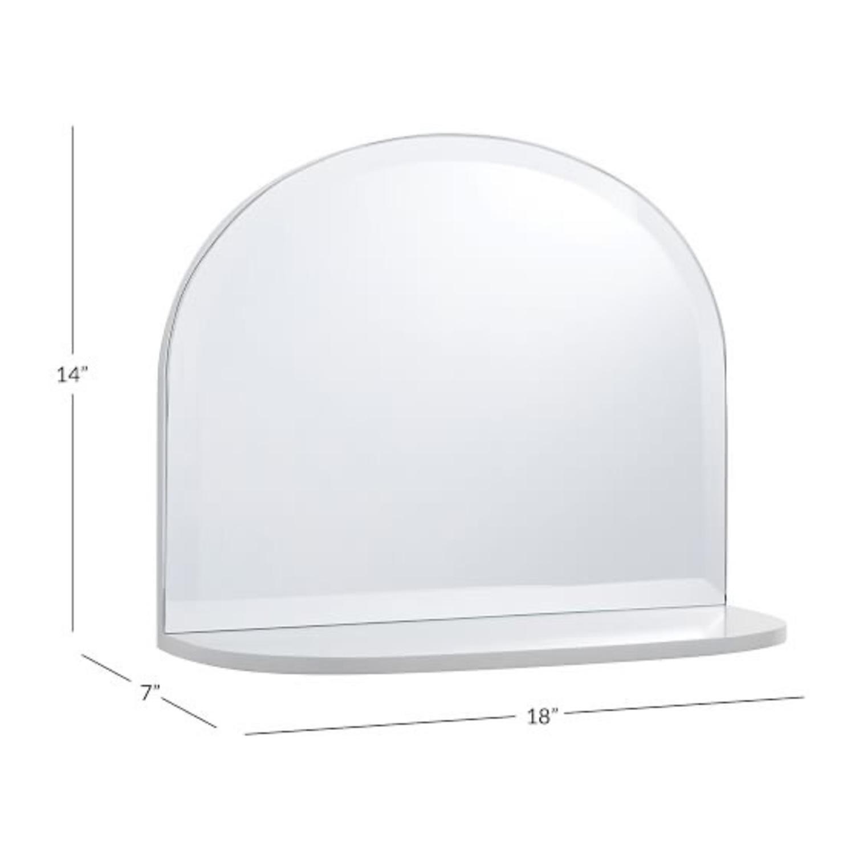Pottery Barn White Mirrored Display Shelf - image-3