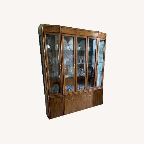 Used Drexel Hutch with Lighting & Glass Shelves for sale on AptDeco