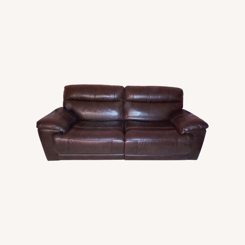 Raymour & Flanigan Reclining Leather Sofa - image-0