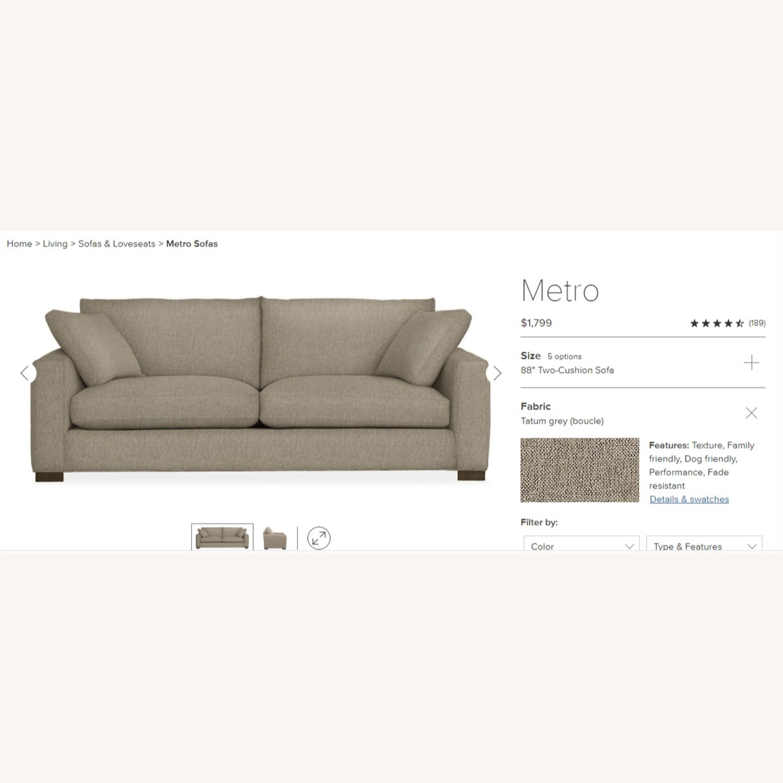 Room and Board Tatum Grey Metro Sofa - image-4