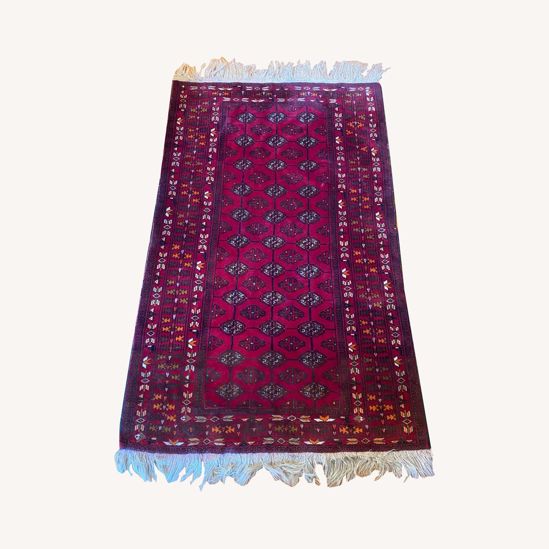 Vintage Afghani Rug sewn during Soviet-Afghan War - image-0