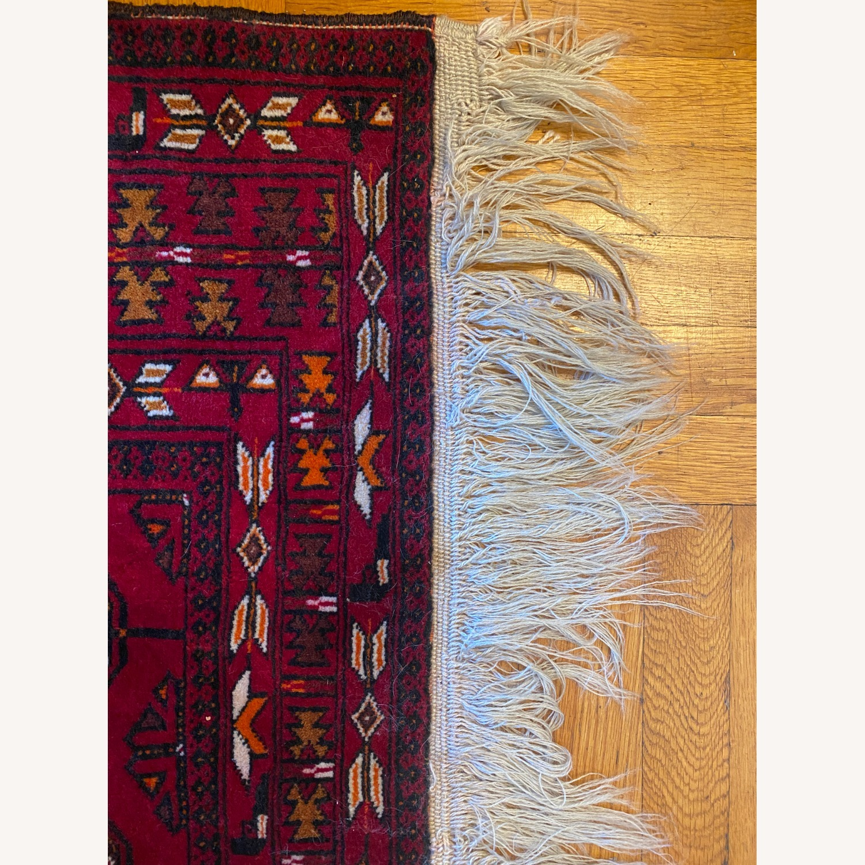 Vintage Afghani Rug sewn during Soviet-Afghan War - image-4