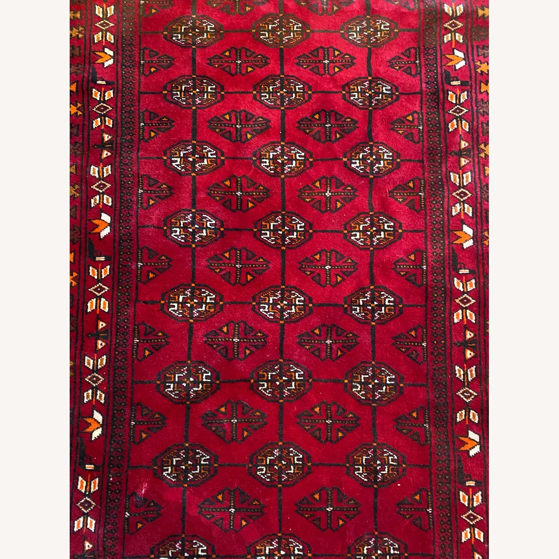 Vintage Afghani Rug sewn during Soviet-Afghan War - image-7