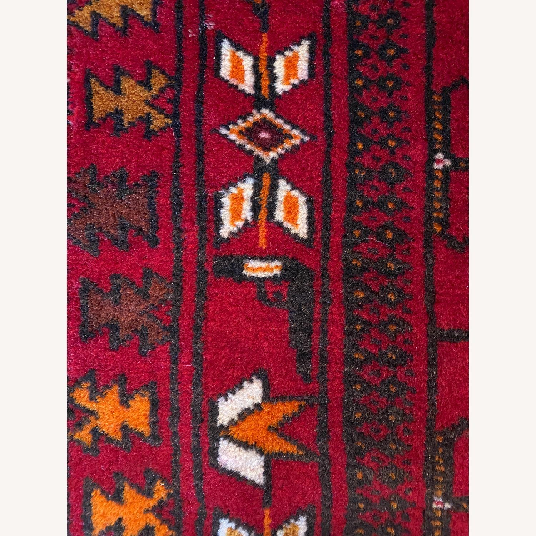 Vintage Afghani Rug sewn during Soviet-Afghan War - image-5