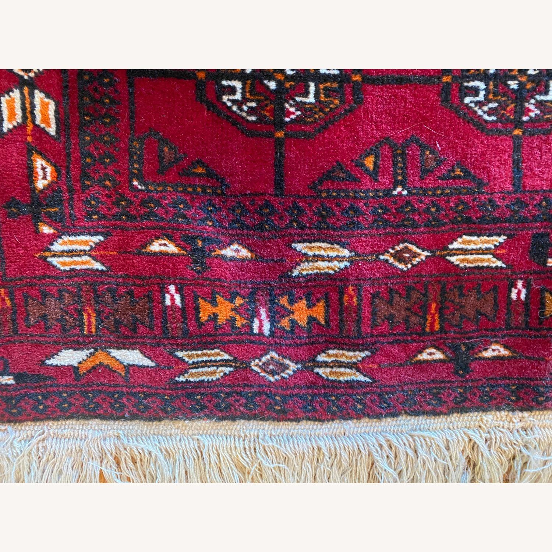 Vintage Afghani Rug sewn during Soviet-Afghan War - image-6
