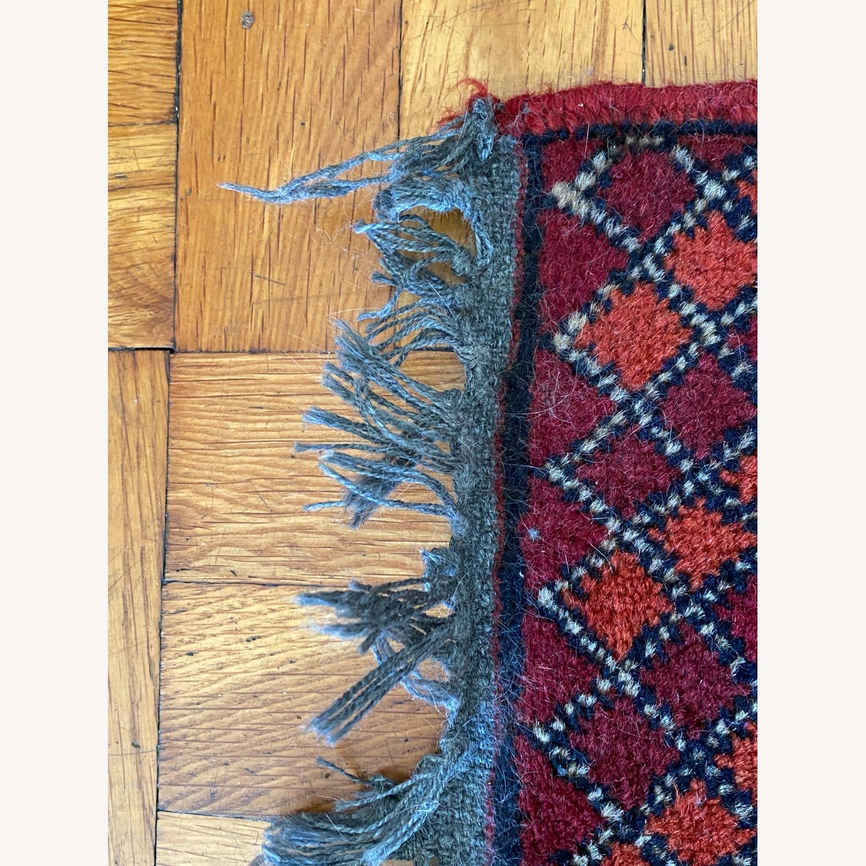 Small Geometric Patterned Afghani Rug - image-3