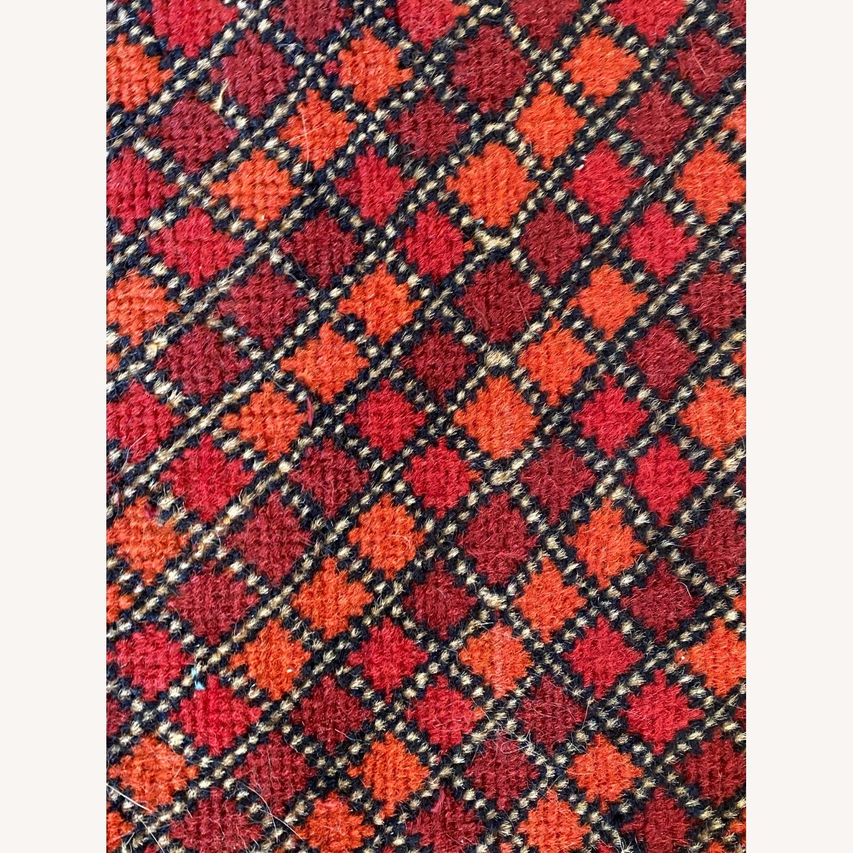 Small Geometric Patterned Afghani Rug - image-2