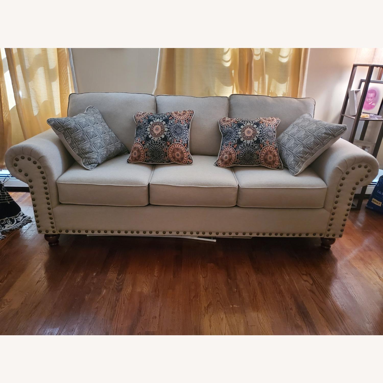 Raymour & Flanigan 3-Seater Beige Sofa - image-1
